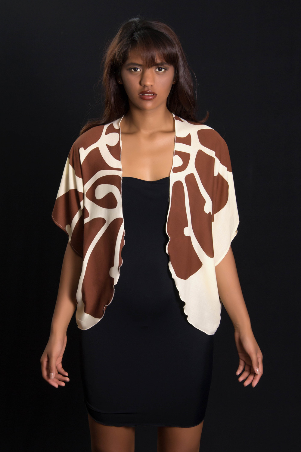 KZHAWAII-Brown short cover up Front.jpg