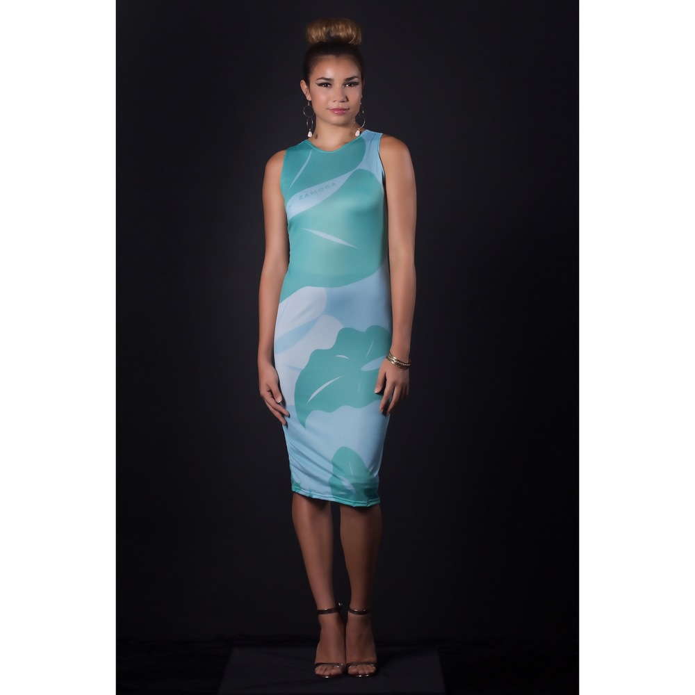 Razorback body con dress green & blue.jpg