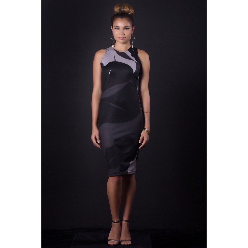 Razorback body con  dress black & gray.jpg