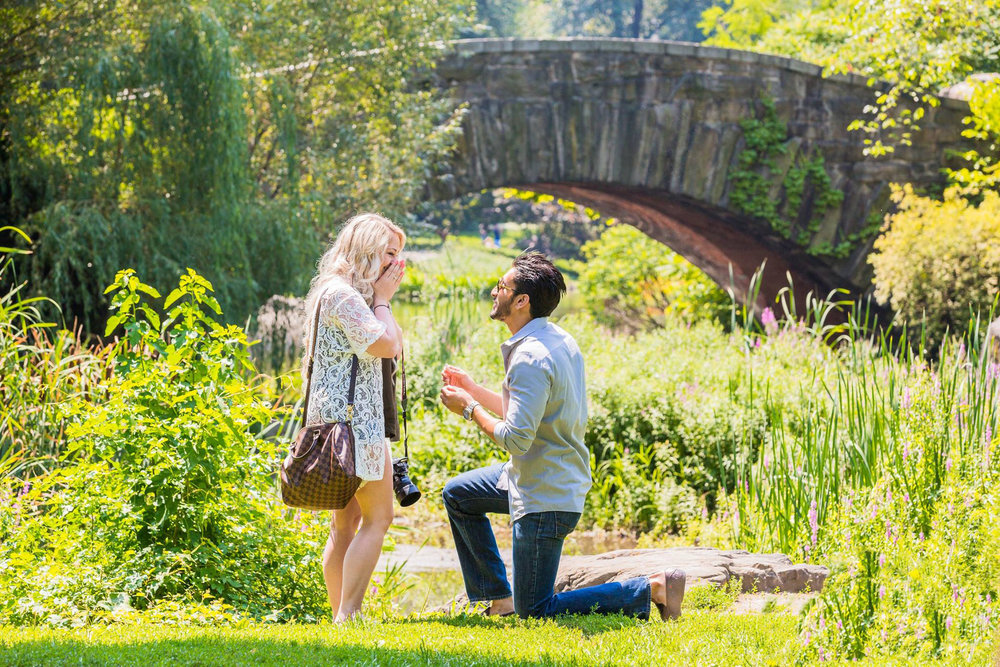 New York Surprise Proposal in Central Park