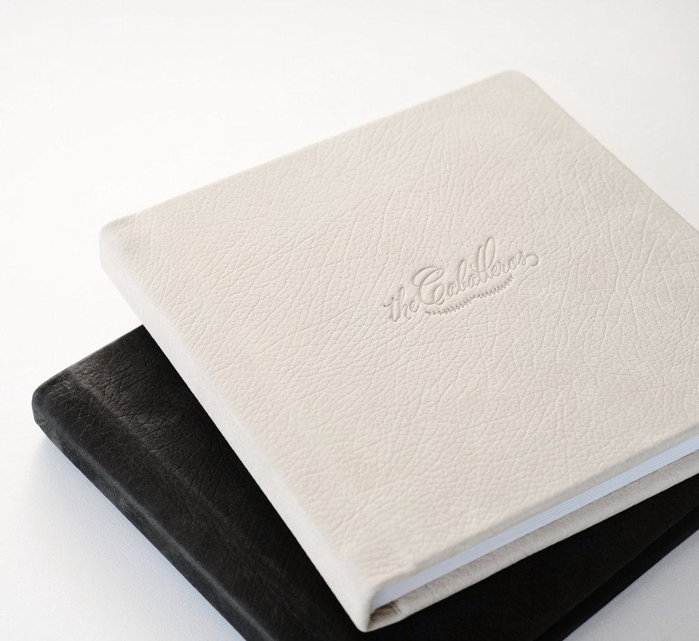 High-end heirloom albums, in premium leather or linen cloth. -