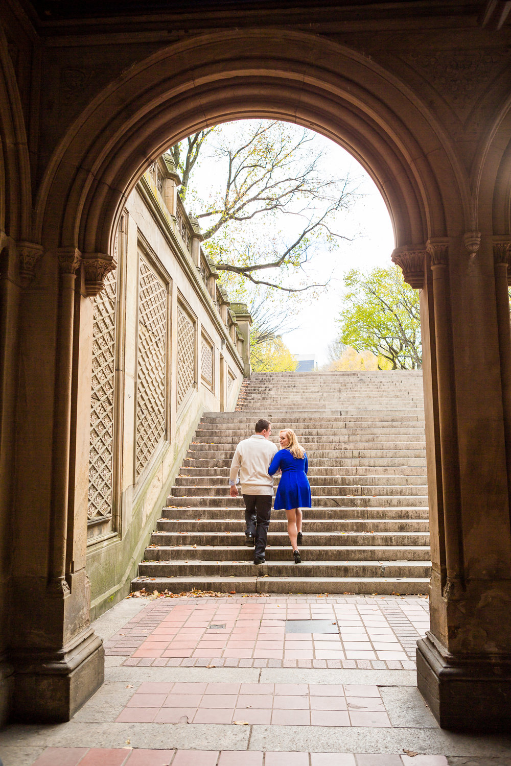 Bethesda Terrace Engagement Photographer in NYC