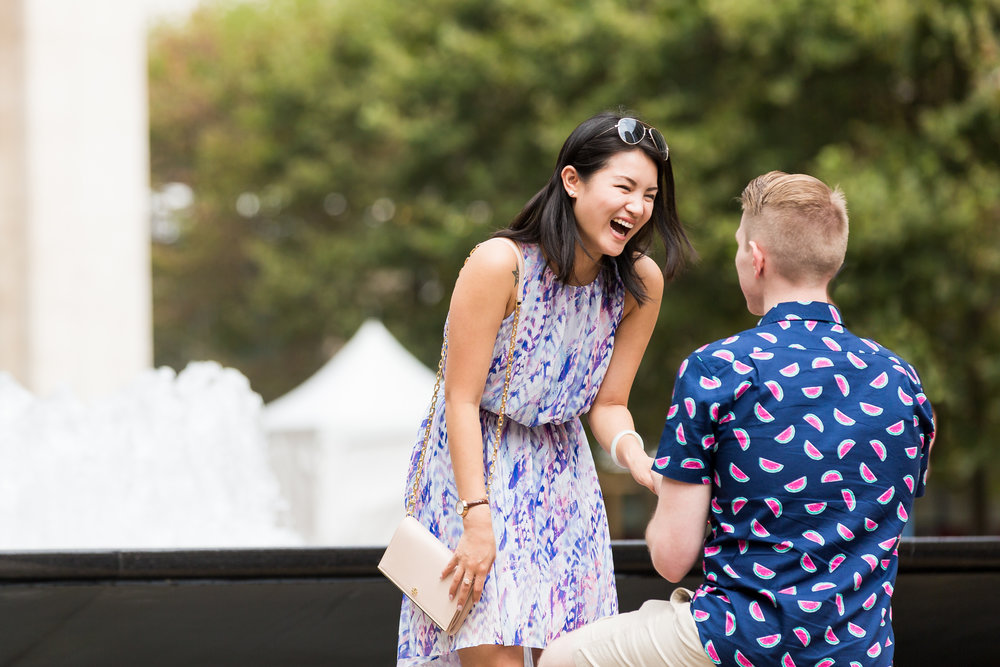 Lincoln Center NYC Surprise Marriage Proposal