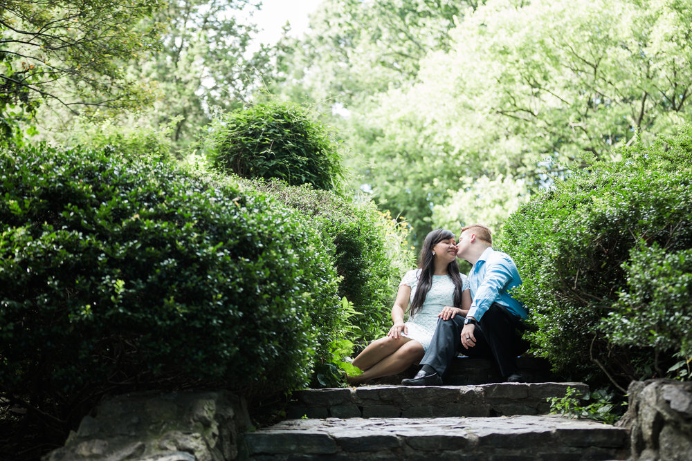 Shakespeare's Garden Central Park Engagement Photography