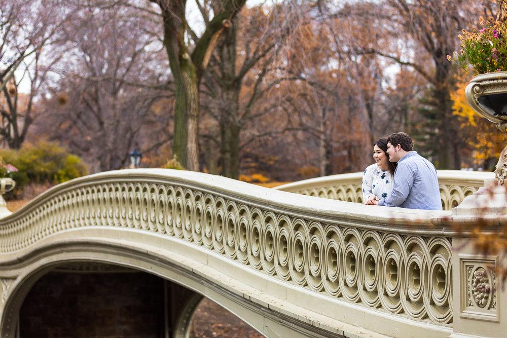 Bow Bridge Central Park Engagement Photography