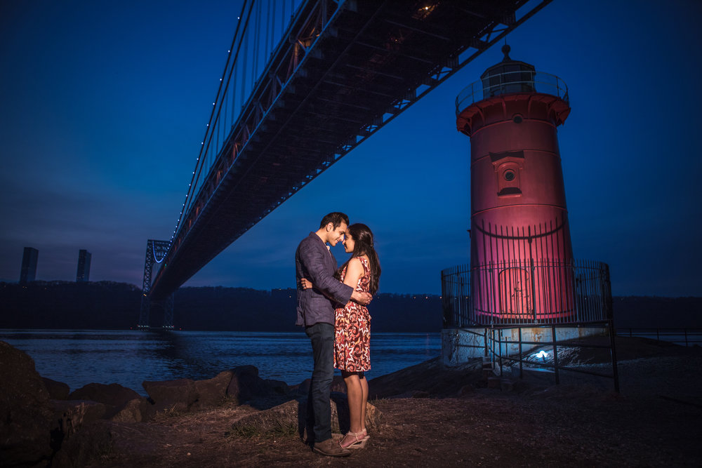 Little Red Lighthouse NYC Engagement Photography
