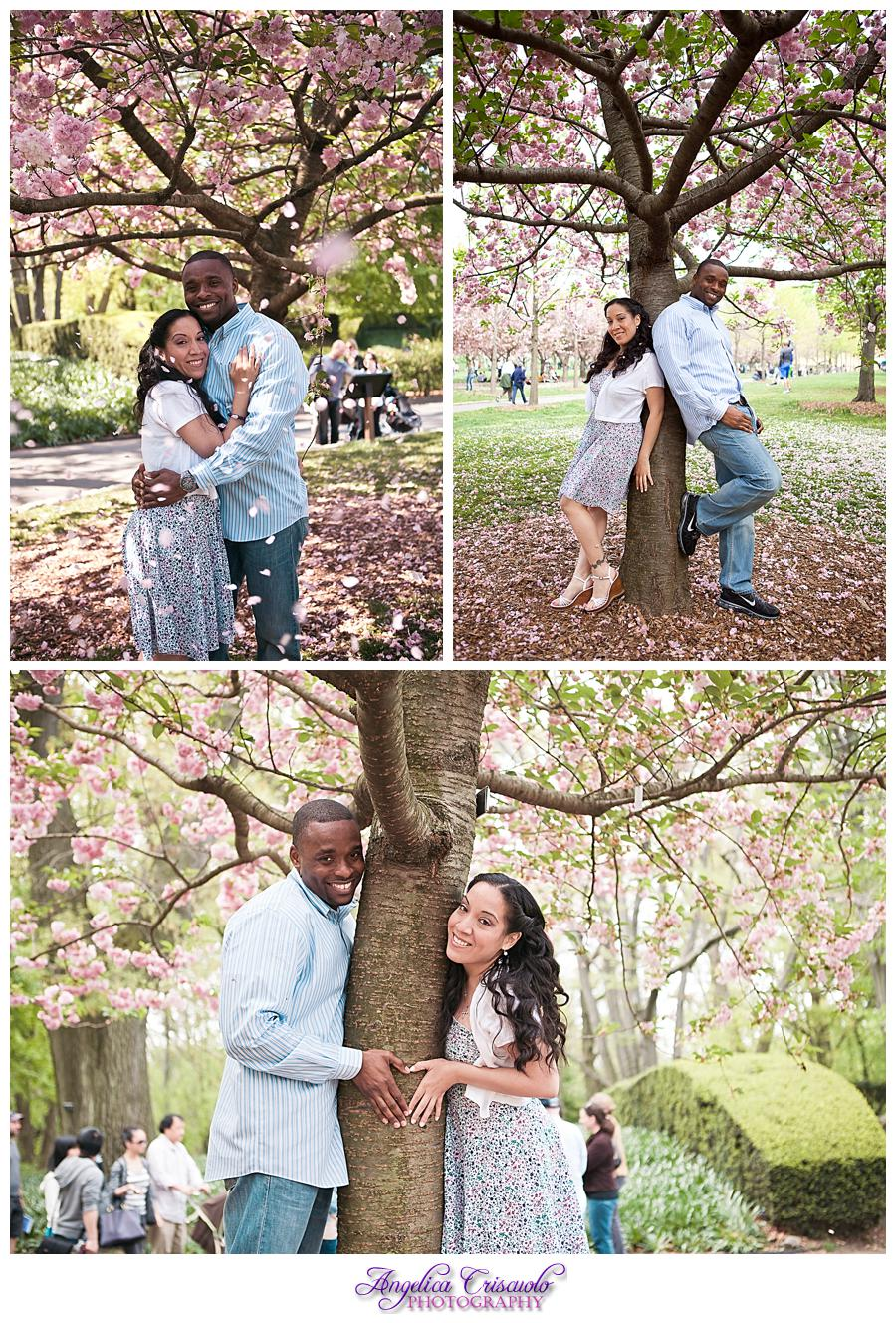 Guadalupe Roy Engagement Brooklyn Botanical Garden Cherry Blossoms Engagement Ideas Tulips 001