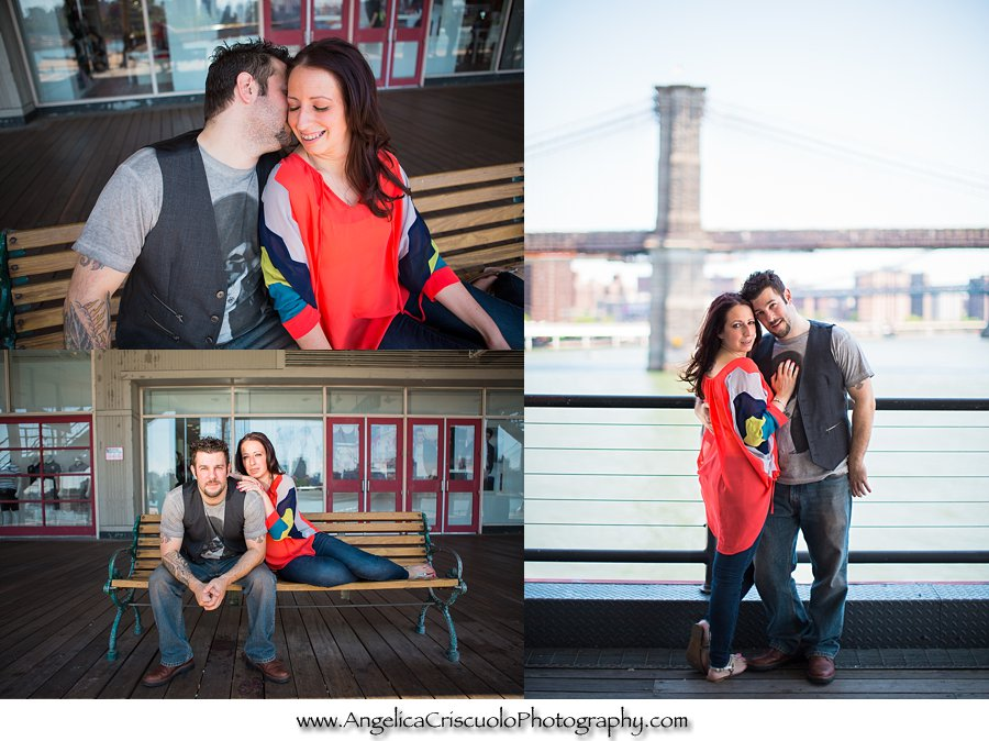 New Jersey Brooklyn NYC and Queens NYC engagement photo idea