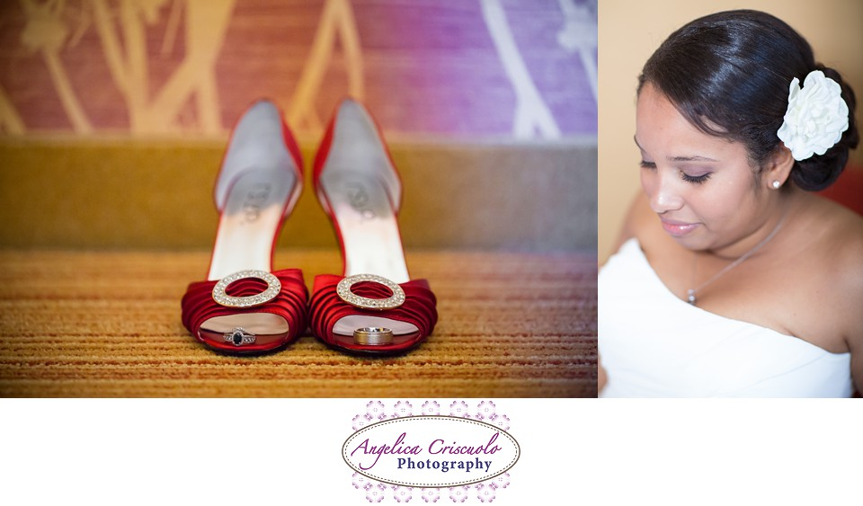 Red Wedding Shoes - NJ Wedding Photographer - Royce Brook Country Club