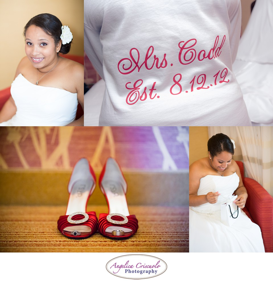 NYC Wedding Photograph Red Theme Shoes Ring Shot VJCoddWedding8.12.12-89