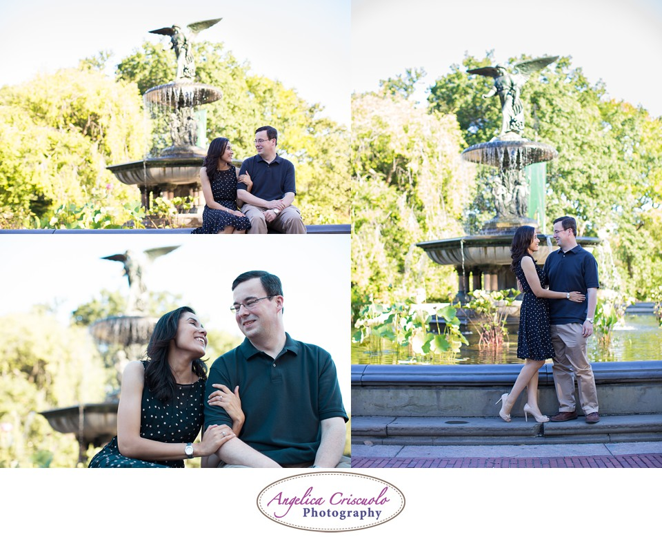 NYC Engagement Photography Central Park Bethesda Fountain Jennifer & Brandon 00