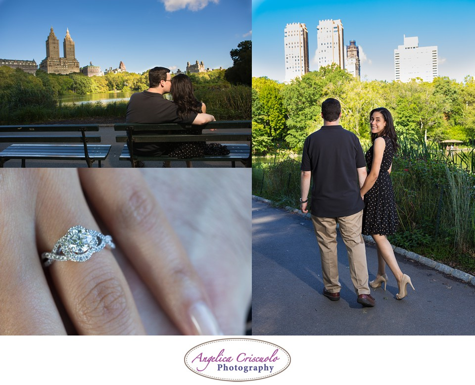 NYC Engagement Photography Central Park Bow Bridge Jennifer & Brandon 002