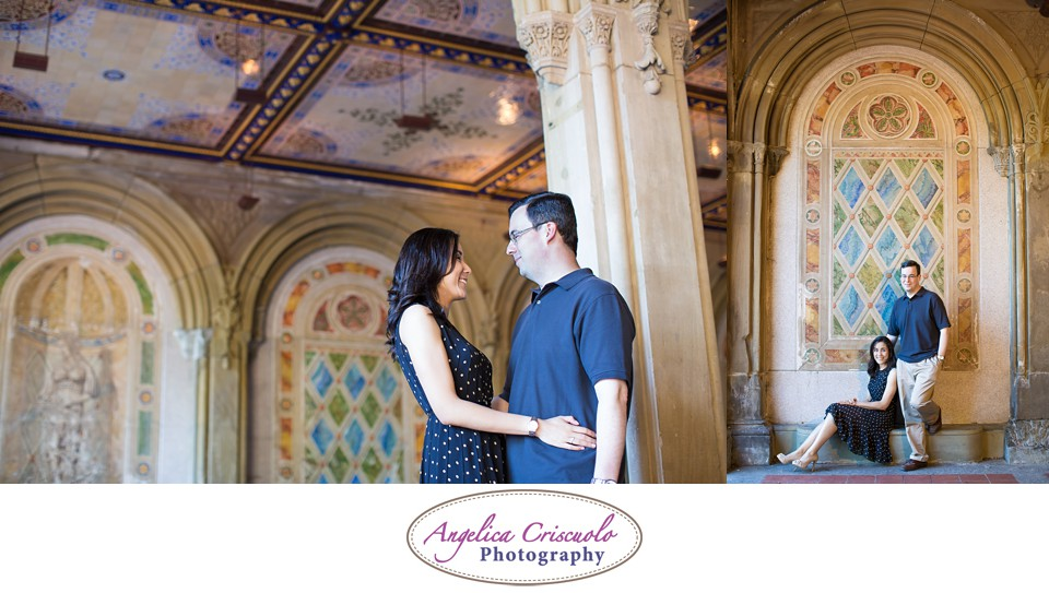 NYC Engagement Photography Central Park Bethesda Fountain Jennifer & Brandon 002