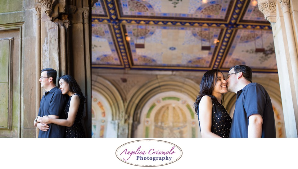 NYC Engagement Photography Central Park Bethesda Fountain Jennifer & Brandon 003