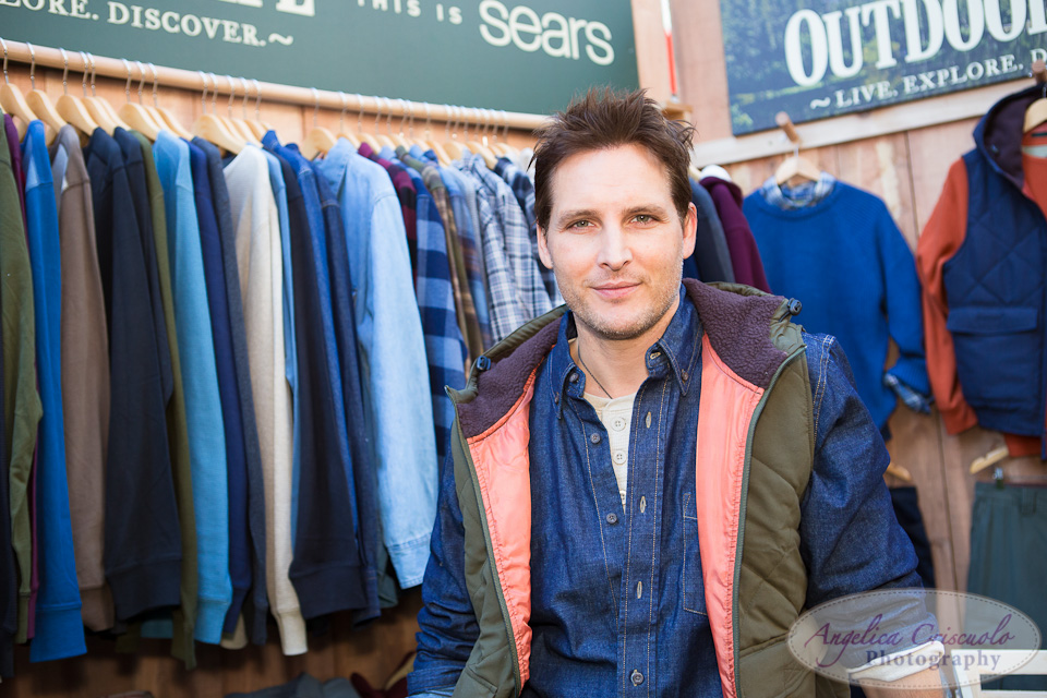Peter Facinelli SEARS Outdoor Life Launch Time Square NYC LDC Design
