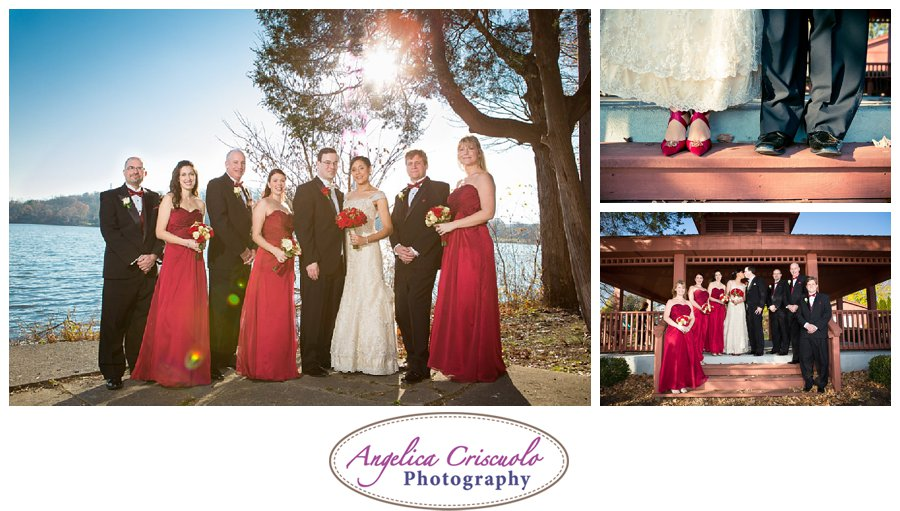 NJ Wedding Photographers Pompton Lake, Bridal Party Red theme, JenniferBrandonWedding-285_showit_showit