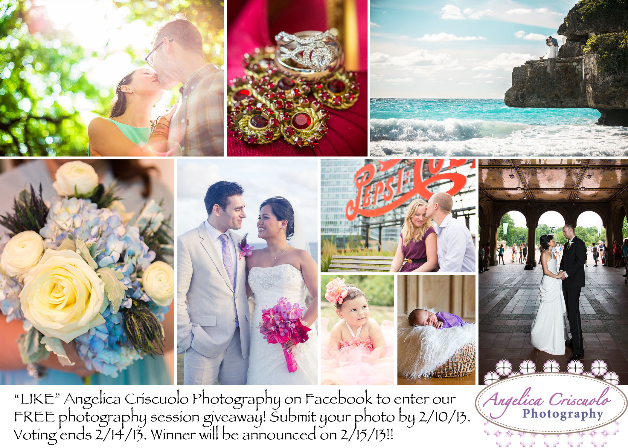 Facebook Fan photo session giveaway by Angelica Criscuolo Photography