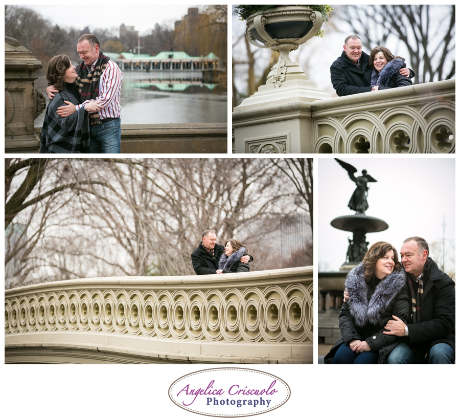 Central Park Bow Bridge in NYC Photo ideas for couples