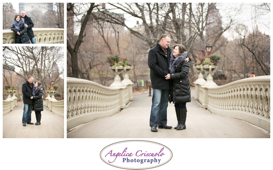NYC Photographer Central Park Bow Bridge Couple's Photo