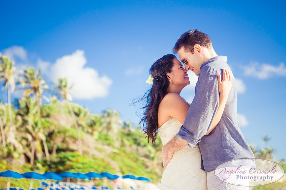 Beach wedding photo in caribbean Barbados KristyPhilBarbadosWEB-1074