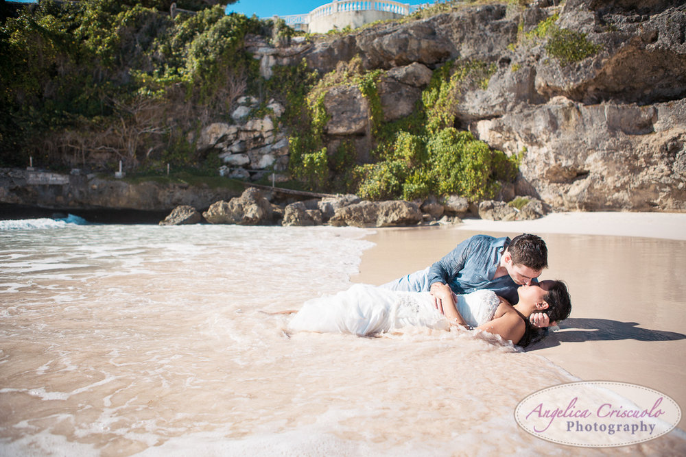 Trash the dress photo session on beach after wedding Destination wedding barbados KristyPhilBarbadosWEB-1165