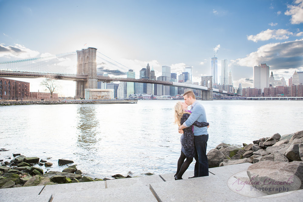 NYC Engagement Photo DumboBrooklyn Bridge Park View Ideas