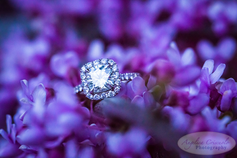 NYC Engagement Photography and Wedding preparation. Romantic unique Ring shot.