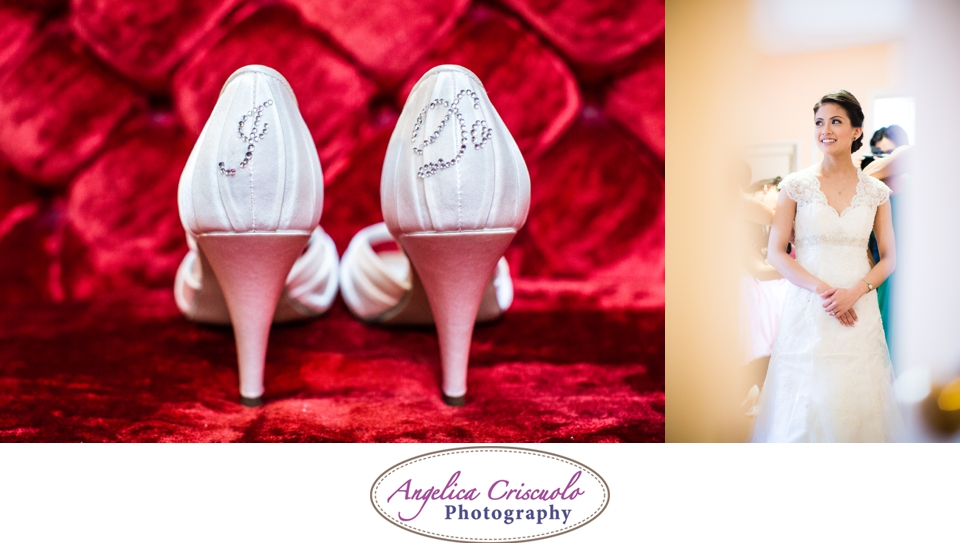 NYC Wedding Photography in Queens NY I DO shoe bling sparkles photo