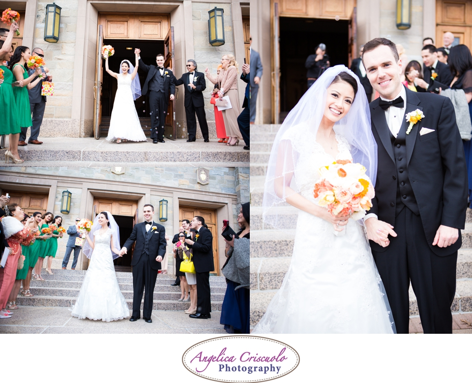 NYC Wedding Photography in Queens NY Jamaica Estates Exit with Bubble Ideas Photo