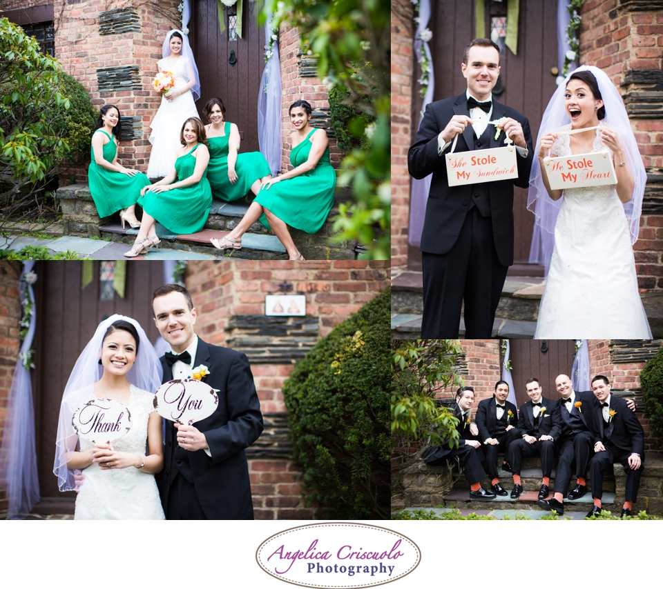 NYC Wedding Photography in Queens NY She Stole My Sandwich Bridal Party Editorial