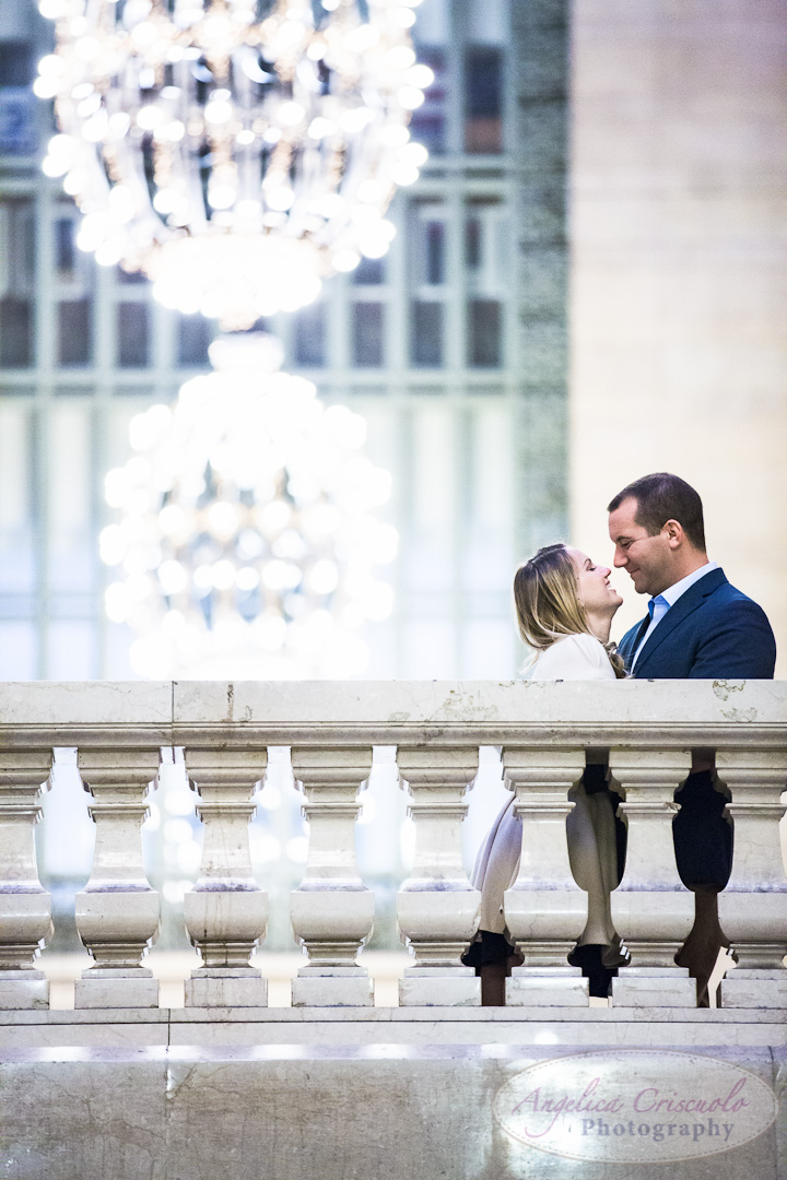 NYC Wedding Engagement Photography Unique Ideas New York Grand Central Balcony