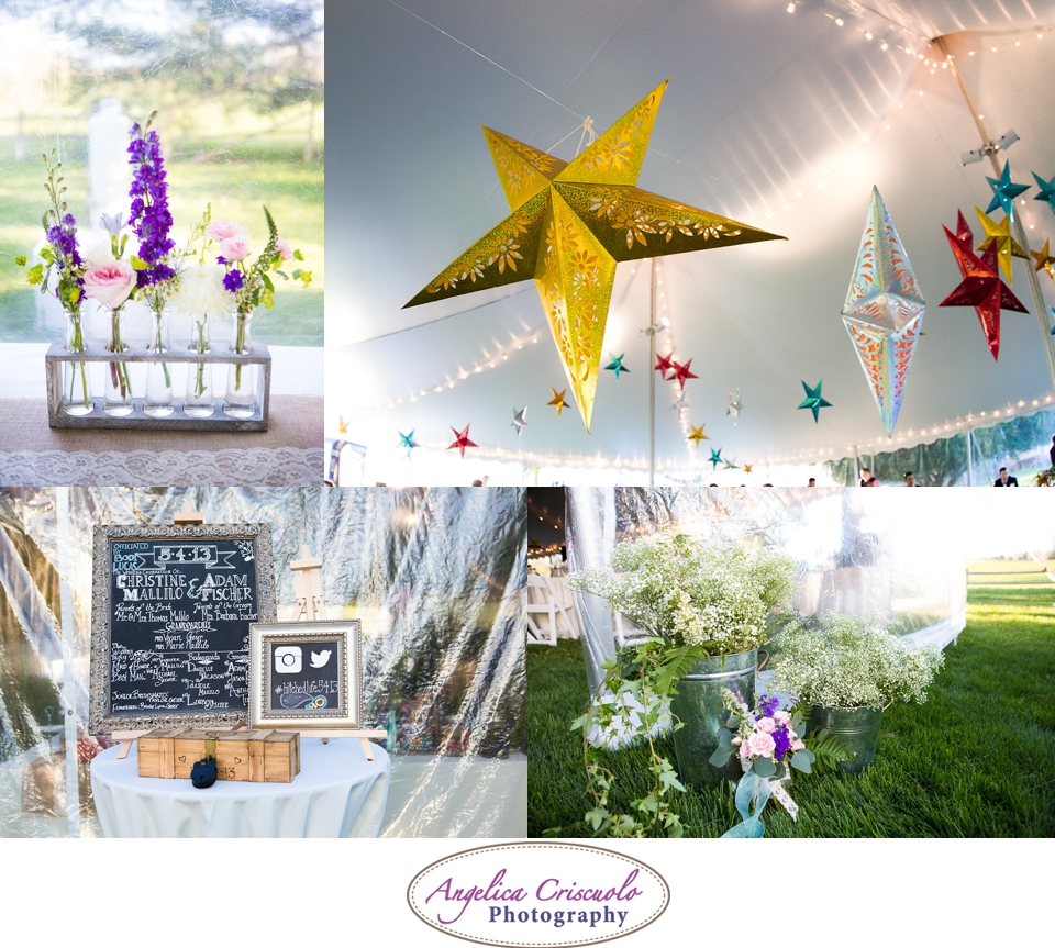 Star Lantern Photo wedding ideas inside a tent