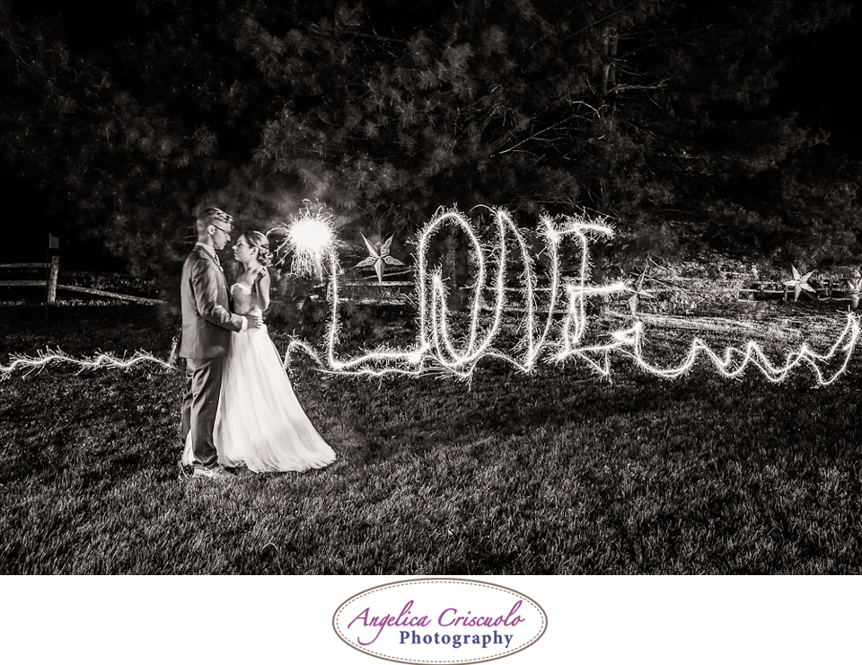 New York Wedding Photographer Sparklers in NY