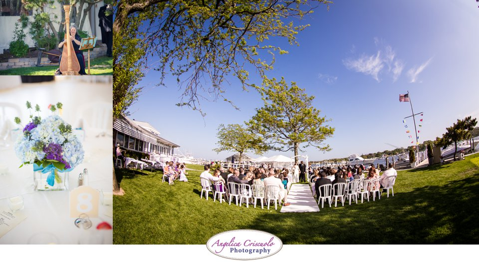 Wedding ceremony by the snapper Inn long Island NY