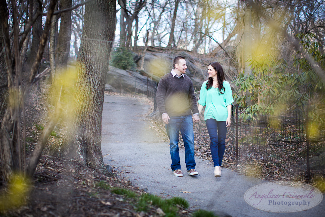 New York Engagement Photo ideas at The Ramble in Central Park