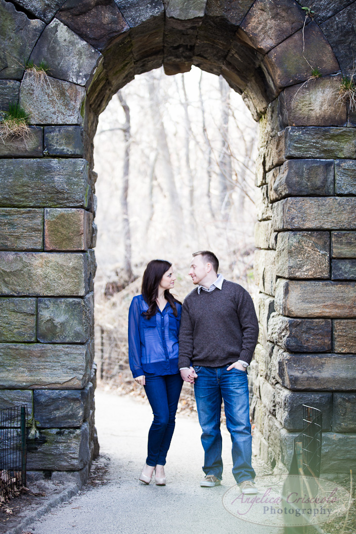 NYC Engagement Photo ideas in the Ramble