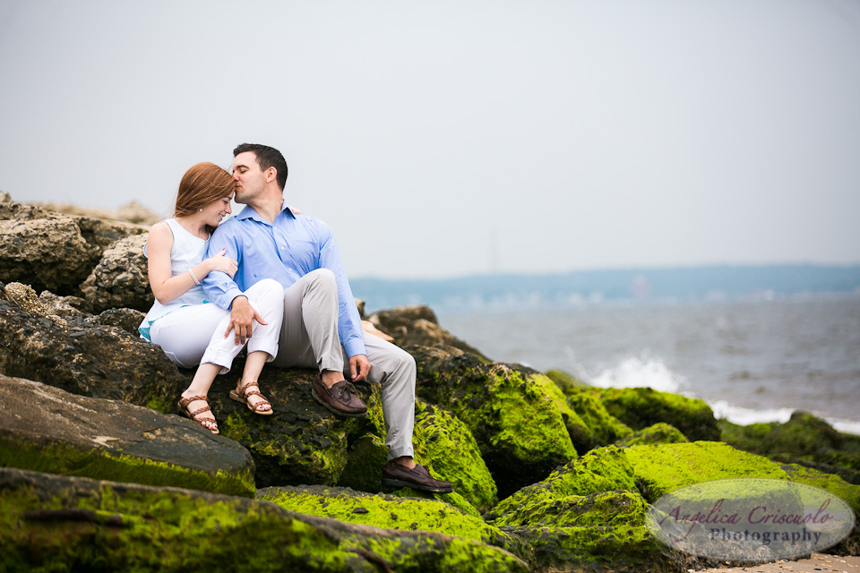 NJ Wedding Photographer Fort Hancock Beach Engagement Ideas Rocky Beach
