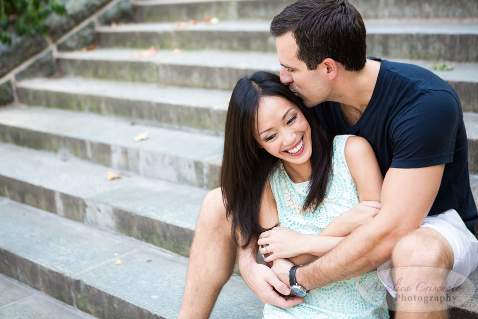 Carl Schurz Park engagement photos in New York