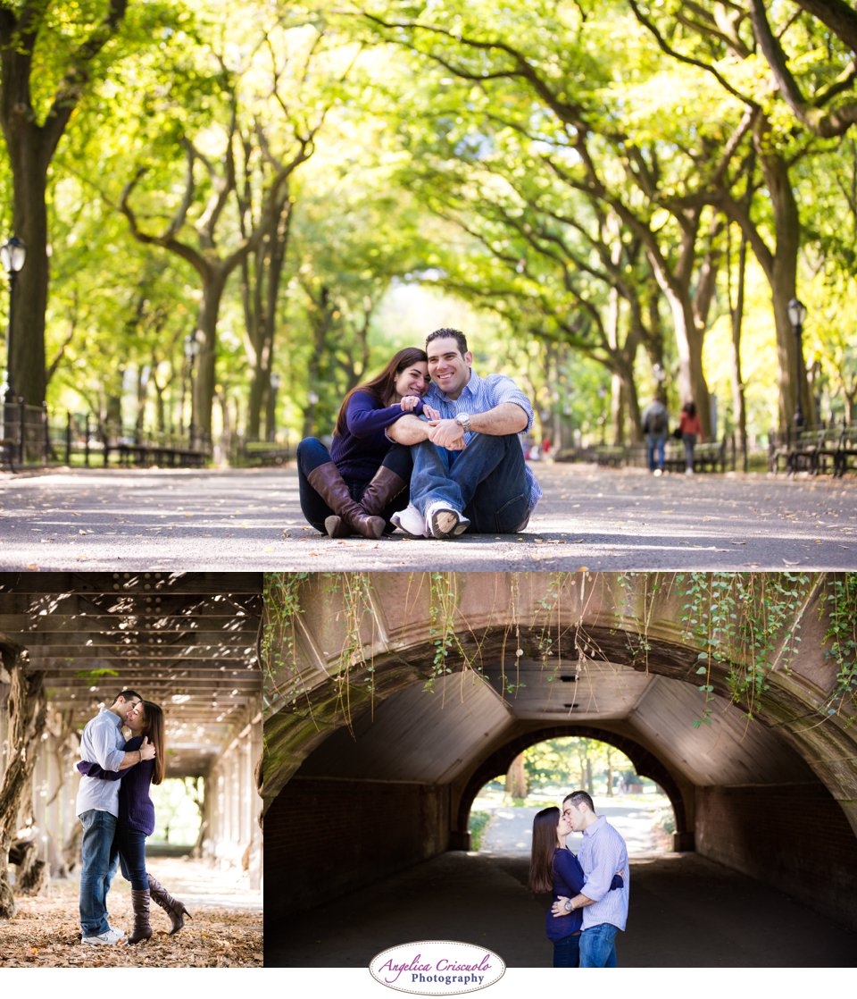 FUN NYC Engagement Photo ideas Literary Walk Central park