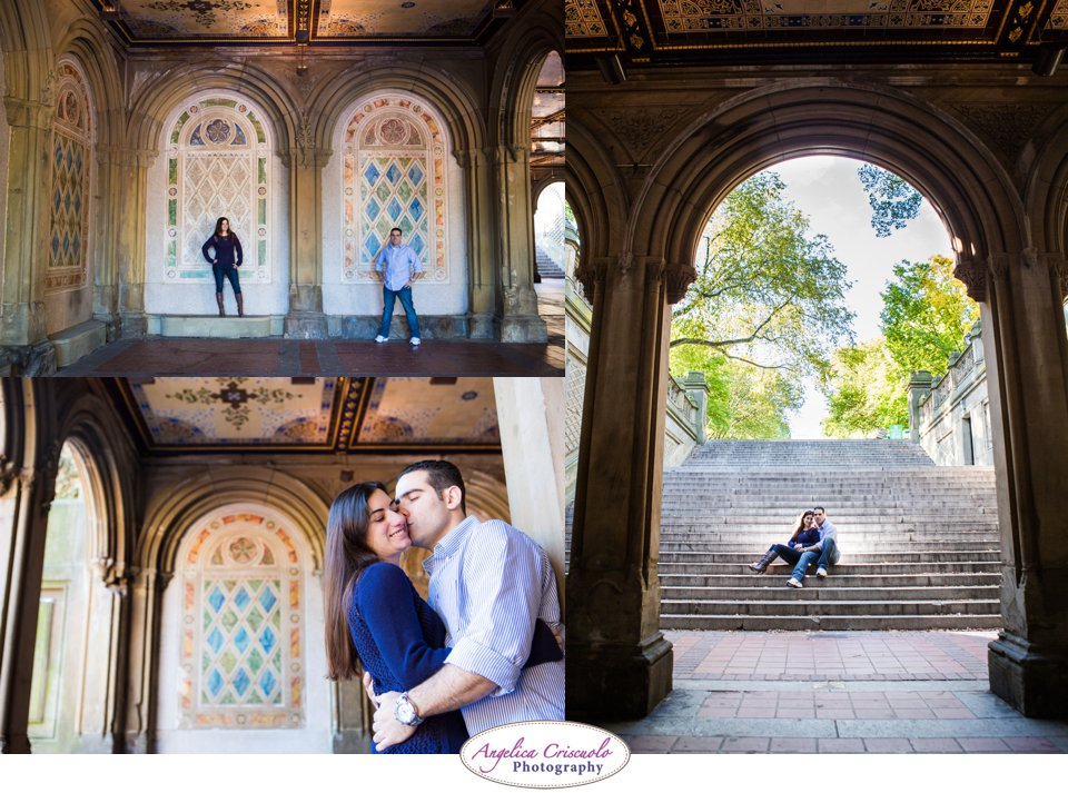 NYC Engagement Photographer Ideas Bethesda Fountain Central Park