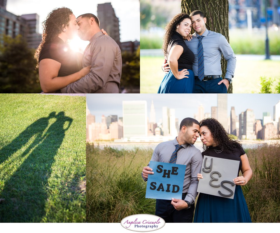 NYC Engagement Photos Ideas Fun at the Gantry State Park LIC Queens