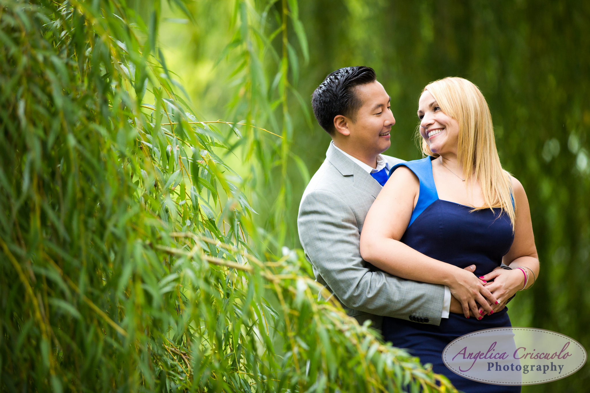 NYC Engagement photos willow trees ideas central park