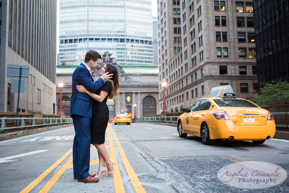 NYC Grand Central Engagement Photos Wedding
