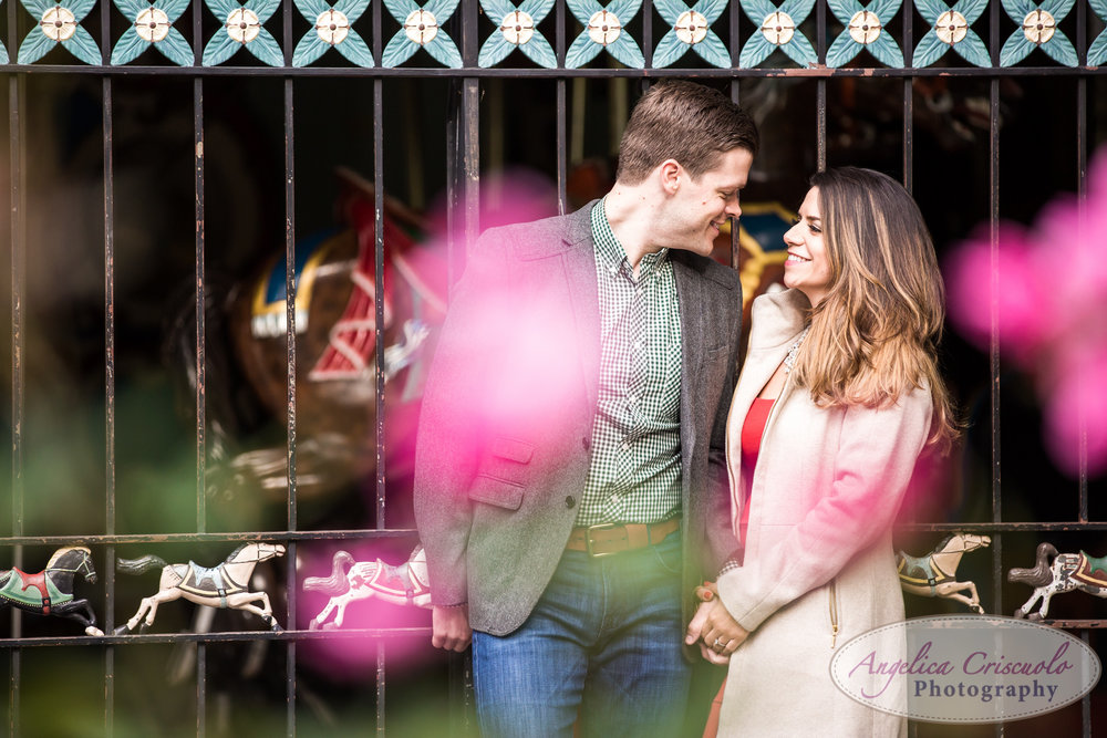 Central Park NYC Engagement photo ideas carousel