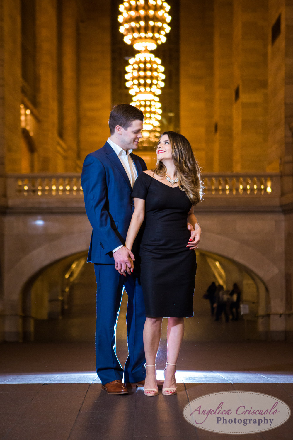 New York City Grand Central Station Engagement Photos Terminal