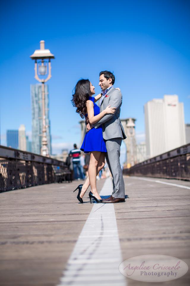 Brooklyn Bridge engagement photos fun best photographer