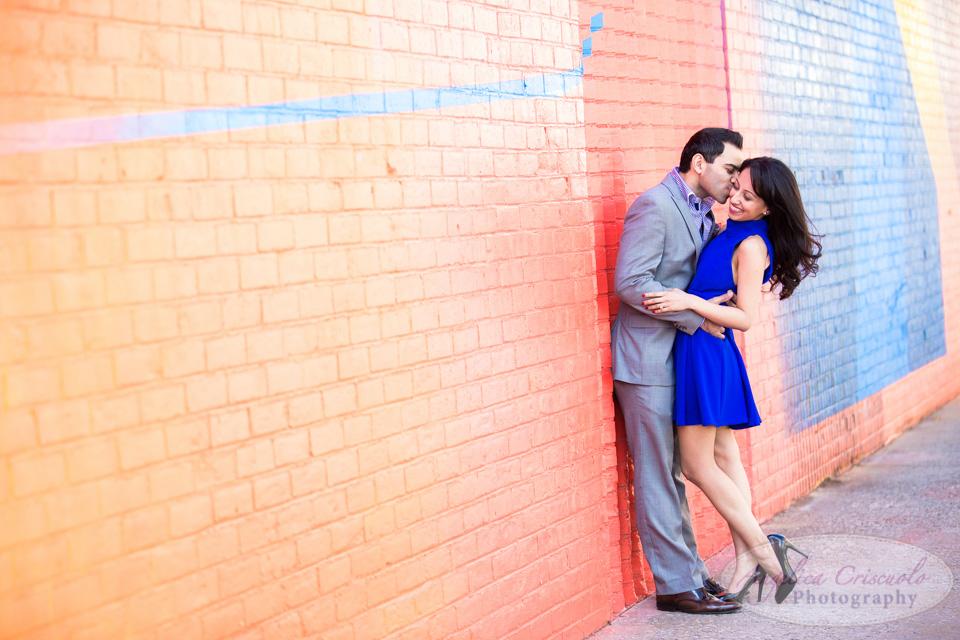 Brooklyn Bridge engagement photographer photojournalism photos fun editorial