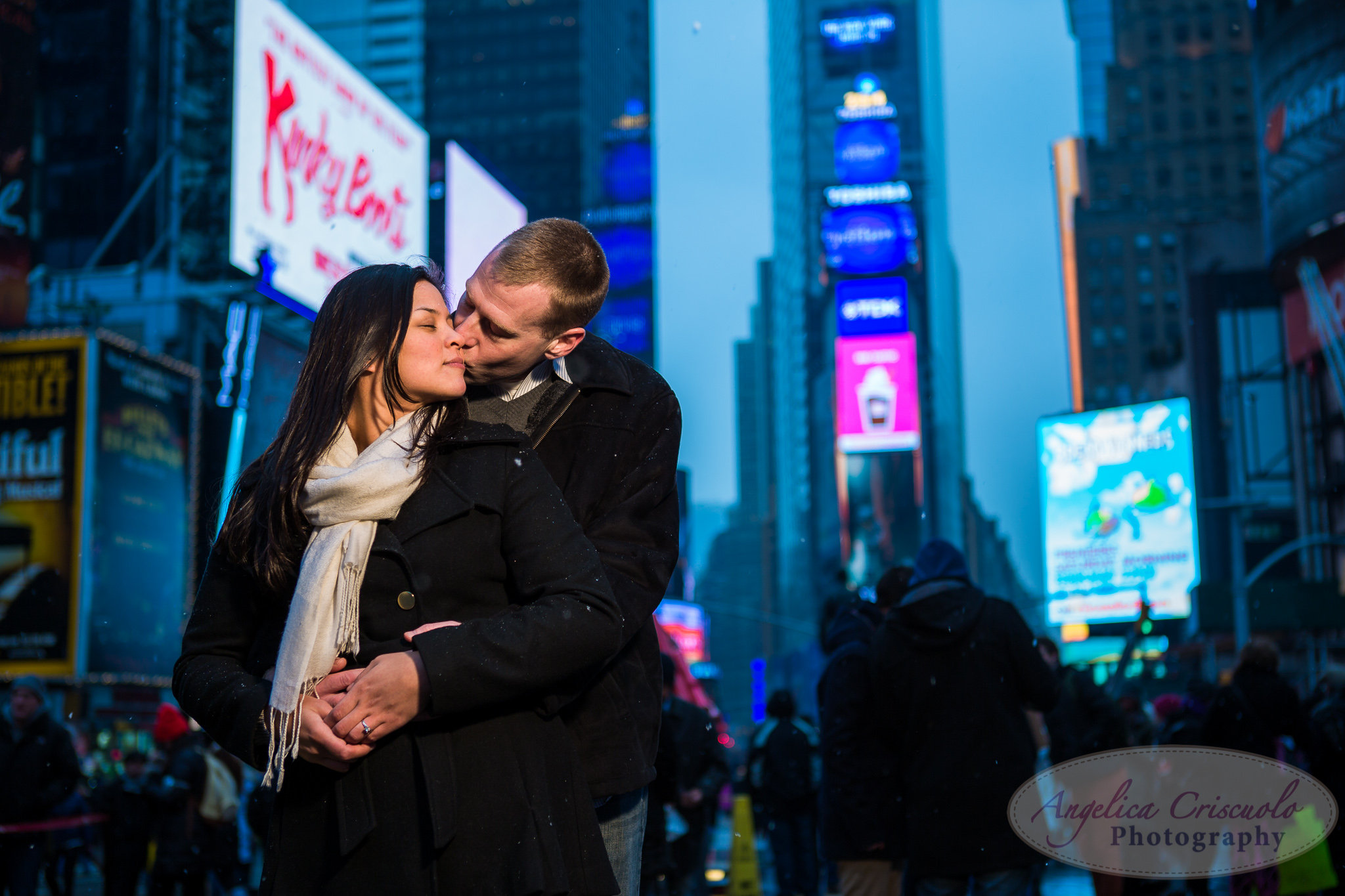 NYC Time Square Engagement Photos proposal ideas