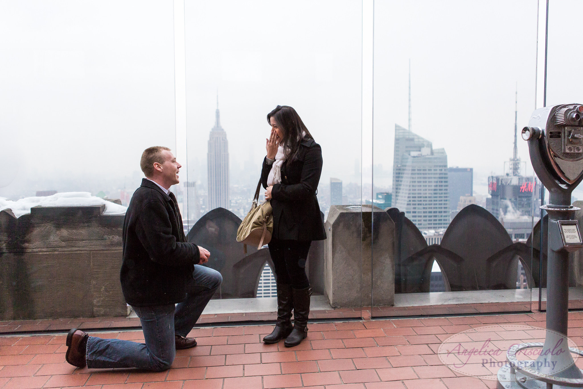 New York City Surprise Proposal Top of The Rock Rockefeller Center