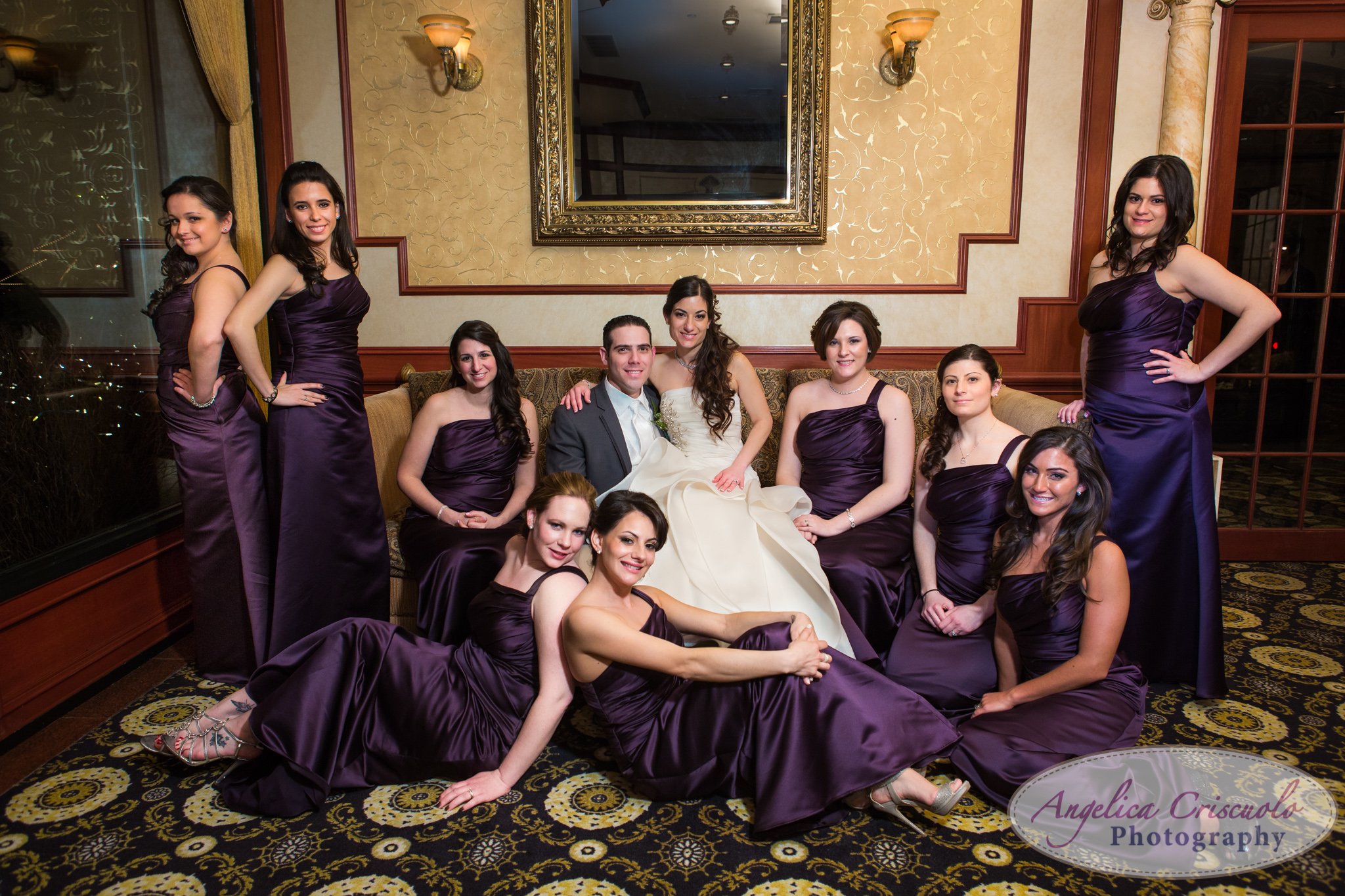 New York Wedding Photographer Marina Del Rey Sexy Bridal Party Fashion Purple